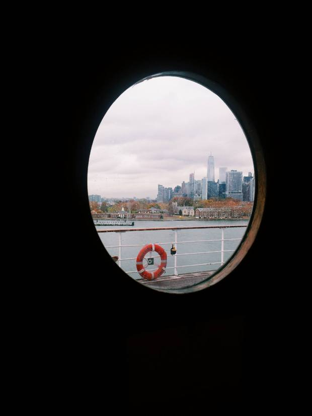 New York view Queen Mary 2