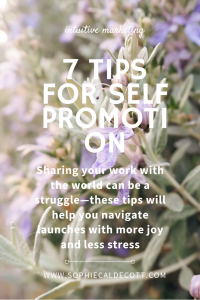 Self promotion marketing tips