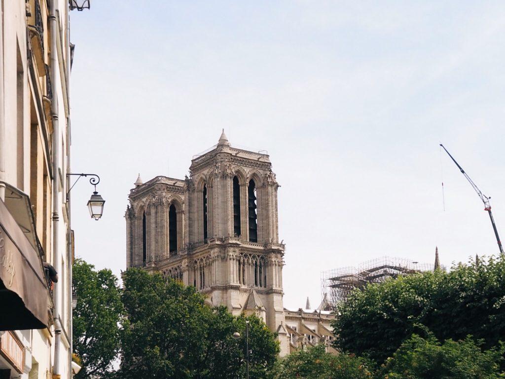 Notre-Dame Paris damage from the April 2019 fire