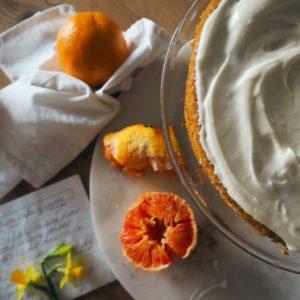 vegan carrot and orange sunshine cake recipe